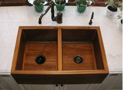 Teak Double Kitchen Sink