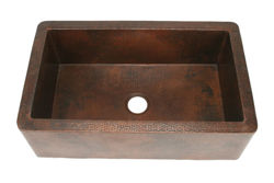 """Picture of 30"""" Single Well Copper Farmhouse Sink by SoLuna"""