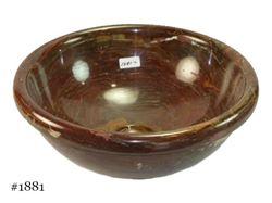 Picture of SoLuna Round Red Onyx Vessel Bath Sink - Sale