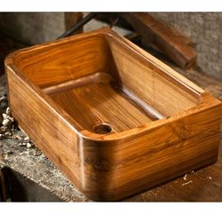 Picture of Teak Wood Bath Sink - T1