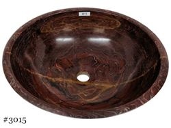 Picture of SoLuna Red Onyx Vessel Bath Sink