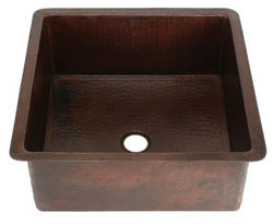 """Picture of 15"""" Square Copper Bar Sink by SoLuna"""