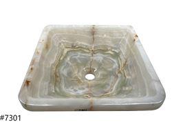 Picture of SoLuna White Onyx Square Vessel Sink - Sale